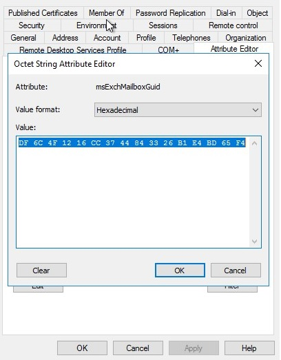 msExchMailboxGuid